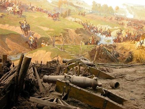Фрагменты панорамы «Бородинская битва» Фото: www.afisha.ru